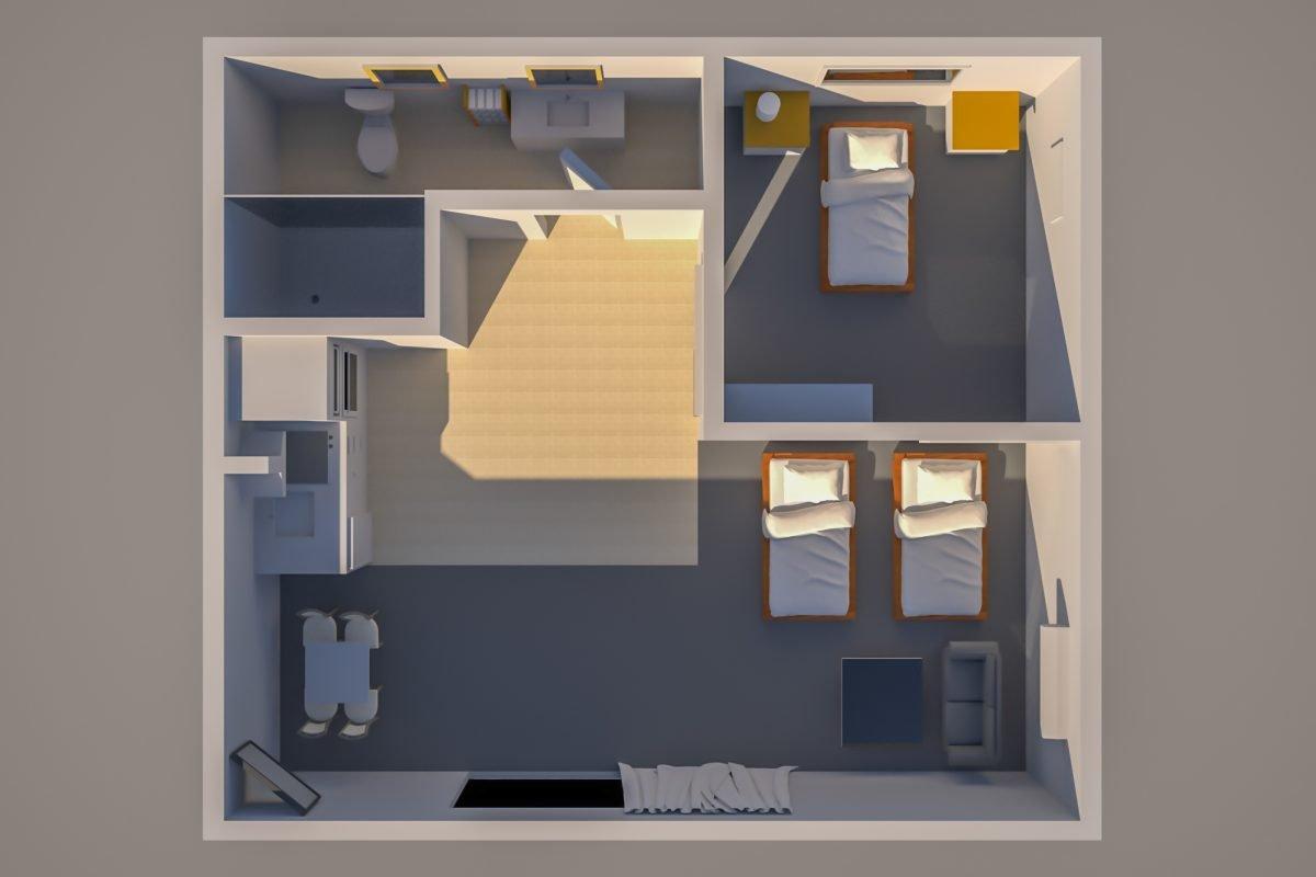 Floor Plan KTA Motor Lodge Unit 06
