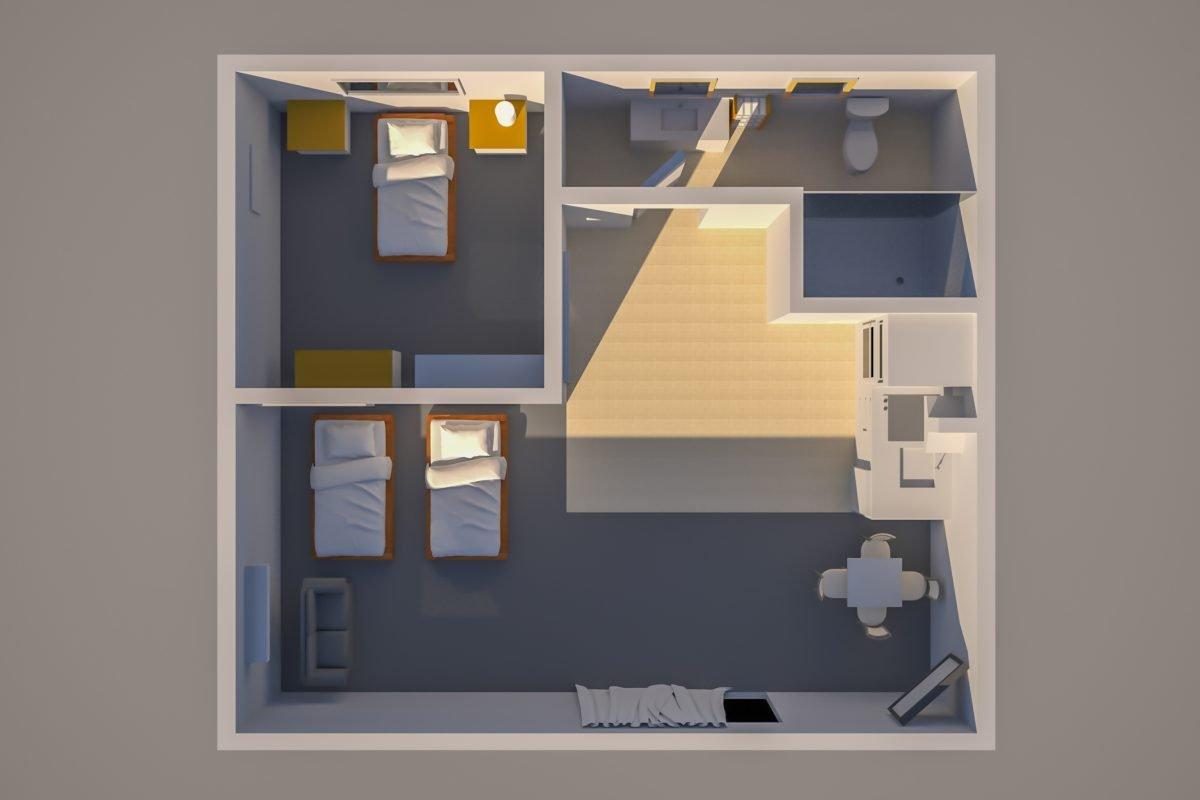 Floor Plan KTA Motor Lodge Unit 07